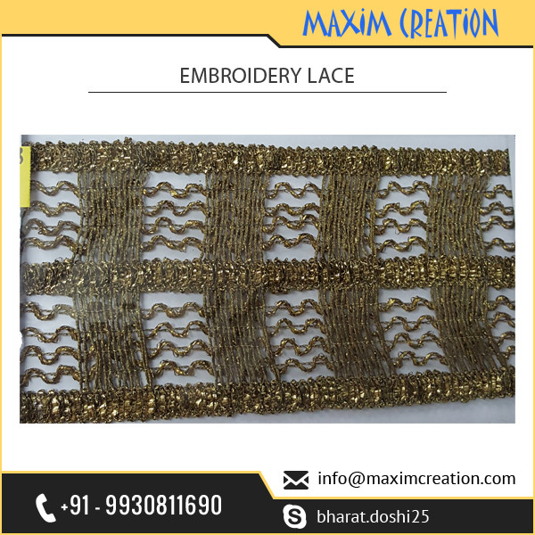 Traditional Ribbon Clothing Lace for Decoration of Dress and Sarees Available at Best Market Price