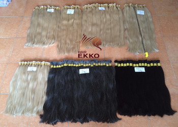Large amount of human remy hair in stock Long and silk Black and blonde hair avaible human virgin hair