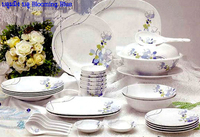 Blooming Blue The 30-piece tableware 4 person (Melamin Grade Premium)