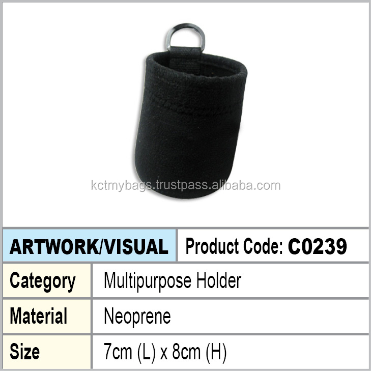 Neoprene multipurpose holder