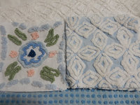 Very very latest cheap rate famous chenille product base Quilt Squares, Vintage Chenille, Blues, greens, pinks chenille quilt.