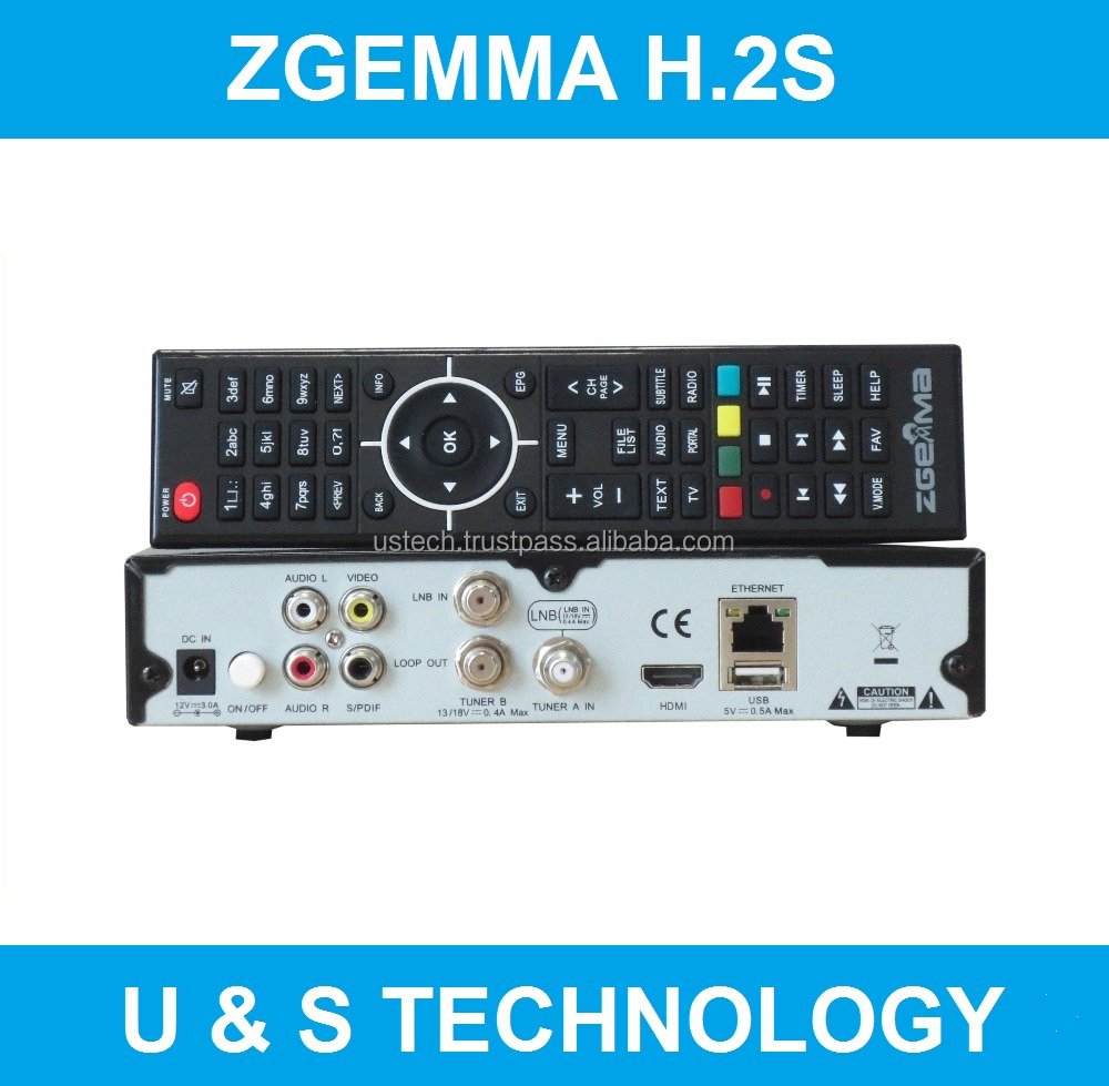 Digital Version Zgemma H.2S FTA HD TV Satellite Finder&Receiver BCM7362 Dual Core Linux OS E2 Cable Box
