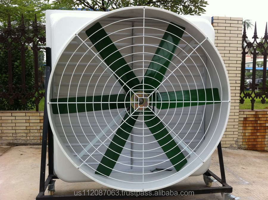 Large Industrial Fans : Big air flow industrial exhaust fan ventilation