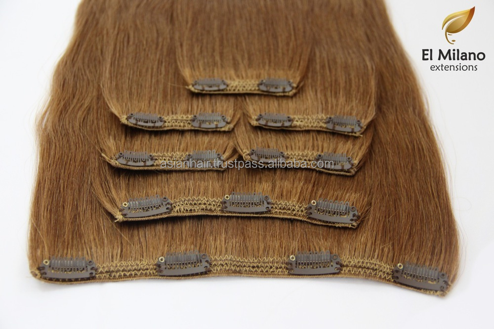 100% VIRGIN HUMAN HAIR - CLIP IN HAIR EXTENSIONS!!!