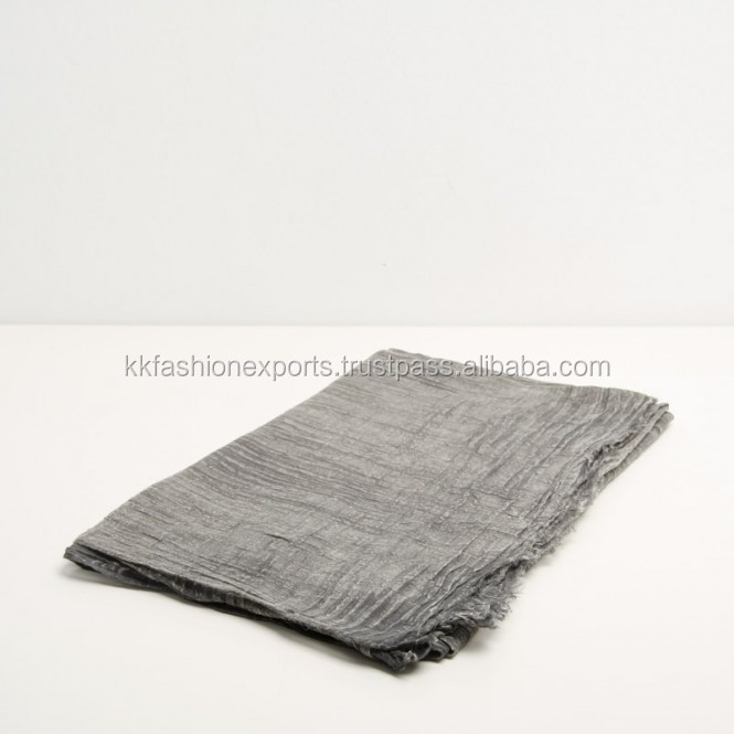 100% Cotton stone wash stole scarf