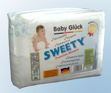 Sweety Baby Diapers New Born, Mini, Midi, Maxi, Junior - Made in Germany -