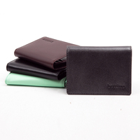 Genuine leather card holder PU leather business card holder wallet card case