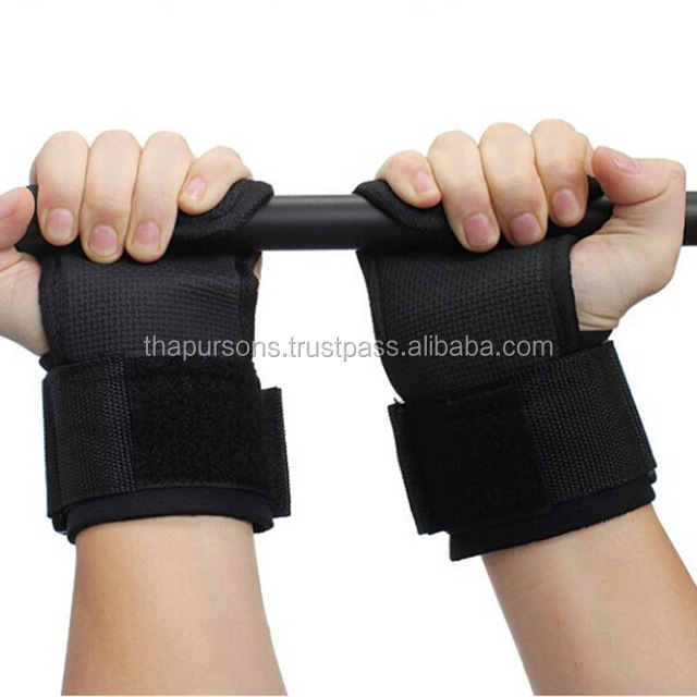 fitness wrist weight lifting hooks sport training gym grips straps glove