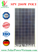 High Efficiency solar panel made in Vietnam with TUV sud certificate - 200W poly