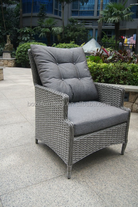 Full polywood long chair, garden rattan chair and table, heavy duty leisure dining furniture
