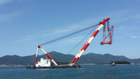 800TON FLOATING CRANE BARGE