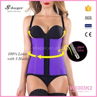 100% Rubber Sexy Waist Trainer Shaper Latex Body Suit Slim And Lift Vest W0303K2