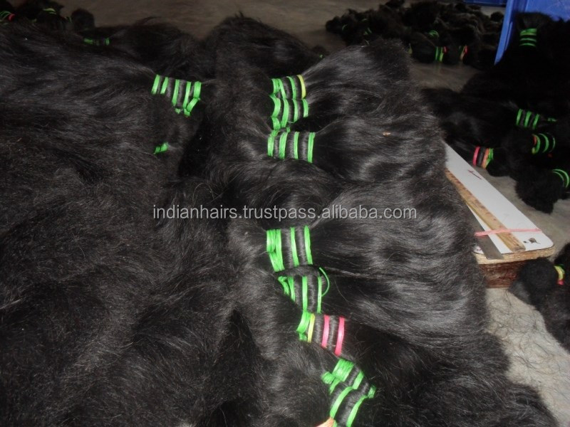 Wholesale Raw Unprocessed 8A Grade 100% Virgin Temple Indian Hair