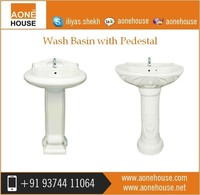Uniqe Rage Of White Colored Megestic Wash Basin with Pedestal