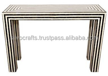 Indian & Moroccan Style Camel Bone Inlay Console Table furniture (Bone & Mother of Pearl Inlay Furniture from India)r0