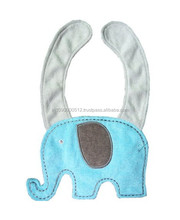 plain and embriody baby bibs