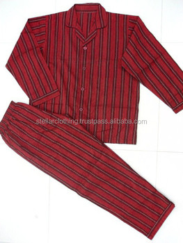 Men's yarn-dyed stripe pajamas suits nightwear and sleepwear
