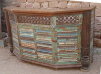 Reclaimed Iron Grills Bar Counter