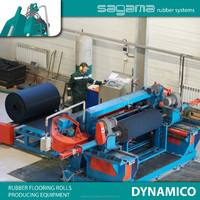 "Best selling ""SAGAMA Dynamico"" Russian rubber floor cover making line"
