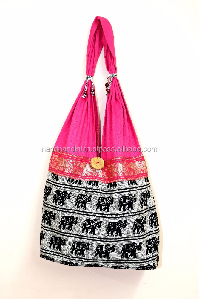 ETHNIC INDIAN COTTON HAND BAGS VINTAGE FASHION WOMEN SHOULDER BAG PURSE NEW