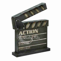 Metallic Movie Action Clap Miniature Design
