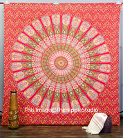 Indian Hippie Mandala wall hangings tapestries Bedspread Printed Cotton Fabric wall hangings Throw Wholesale Decor Wall Tapestry