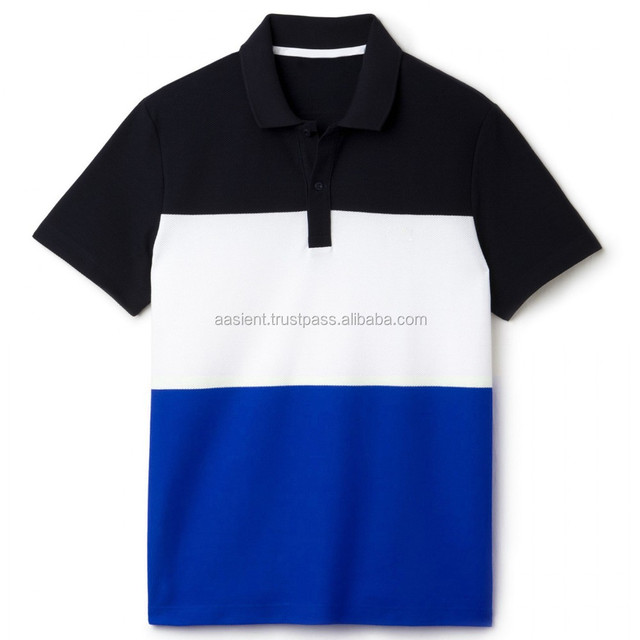 Men's Custom Fit Polo T-Shirt stylish men's casual two color cotton polo Shirt