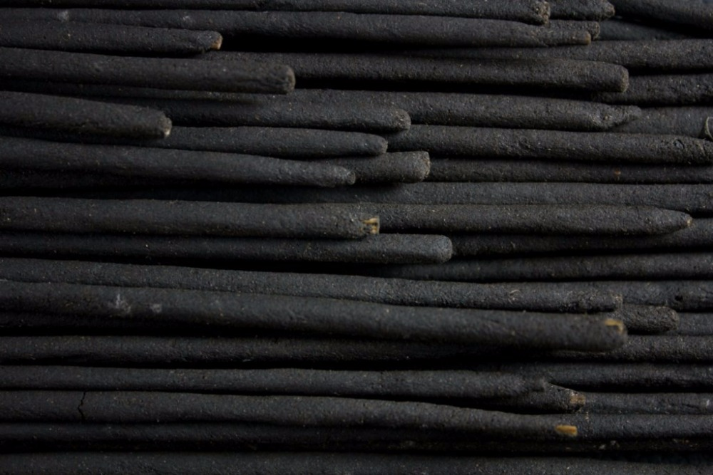 Raw unscented incense stick
