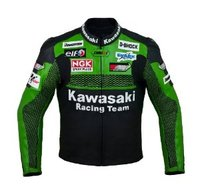 Pakistan Produce kawasaki motorcycle leather jacket