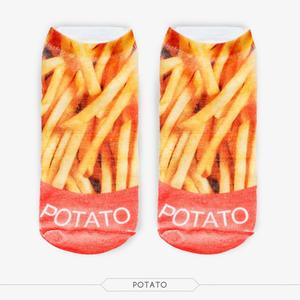 Factorytoshop (UK) Providers of Wholesale and Dropship Stylish Print Design Ankle Socks - Potato