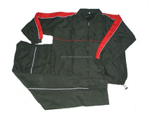 Tracksuit/Training Suit/Jogging Suit made of 100% Polyester Taslan Black/Red/White with Mesh Lining inside