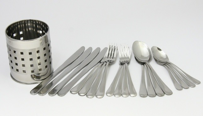 20 PCS FLATWARE SET + HOLDER
