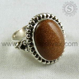 Most Creative Red Sun Sitara Gemstone Jewelry Ring Wholesaler 925 Sterling Silver Jewelry Ring