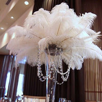 wedding white ostrich feathers