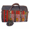Handmade moroccan leather kilim duffle travel bag weekender bags wholesaler