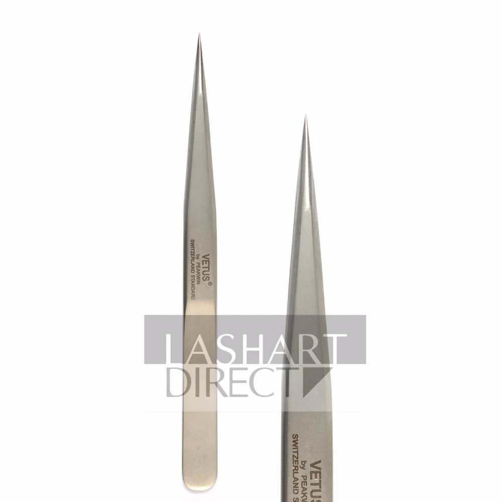 Vetus 1SA Straight Fine Point Tweezers For Eyelash Extension Stainless Steel