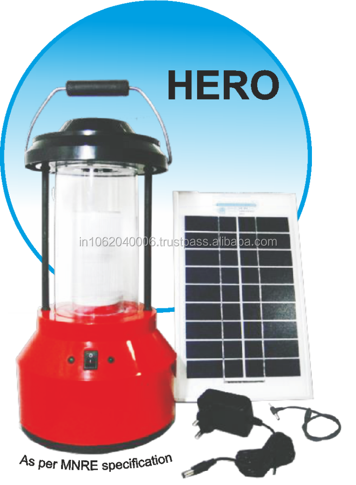 3W -WHITE LED BASED SOLAR LANTERN WITH MOBILE CHARGING PIN,AC ADAPTER,5W SOLAR PANEL