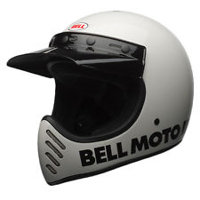 2017 Bell Cruiser Moto 3 Retro Full Face Motorcycle Helmet - Classic White SR