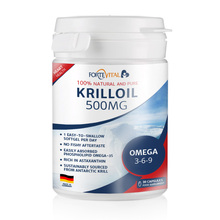 Krill oil with Omega 3-6-9, 500mg highly dosed, Made in Germany 30 capsules with high Astaxanthin