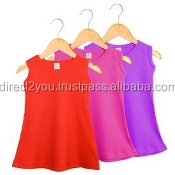 colorful plain color baby dresses