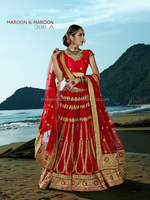 Astute Red Fancy Net Designer Lehenga Choli/fancy lehenga choli/indian garba dance lehenga choli ghagra