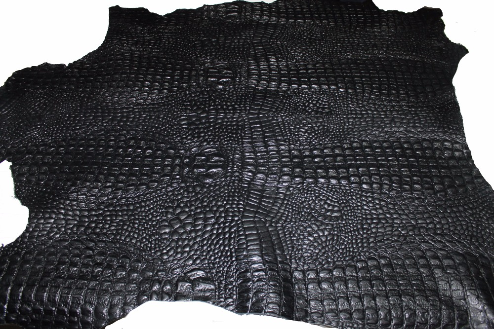 Italian Goatskin leather skins hides CROCODILE ALLIGATOR EMBOSSED - ALL COLORS