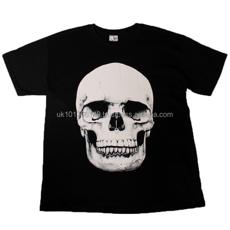 Skull Design Black Cotton T-Shirt Available In All Sizes