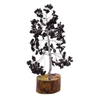 Black Tourmaline Tree Gemstones Reiki Spiritual Feng Shui Bonsai Table Decor CD2461A