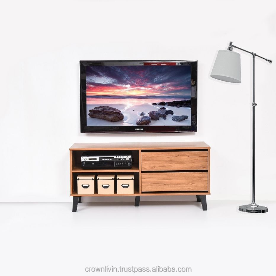 1.2 Meter Simple Modern Style TV Cabinet With 2 Drawer A691