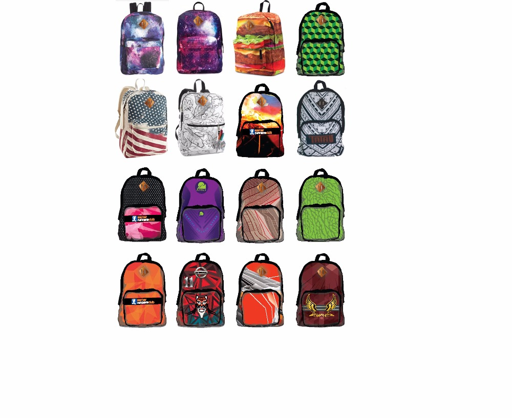Customized Sublimated Backpacks and Gym Bags