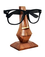 Store Indya Wooden Eyeglass / Spectacle Holder Stand with Brass Inlay
