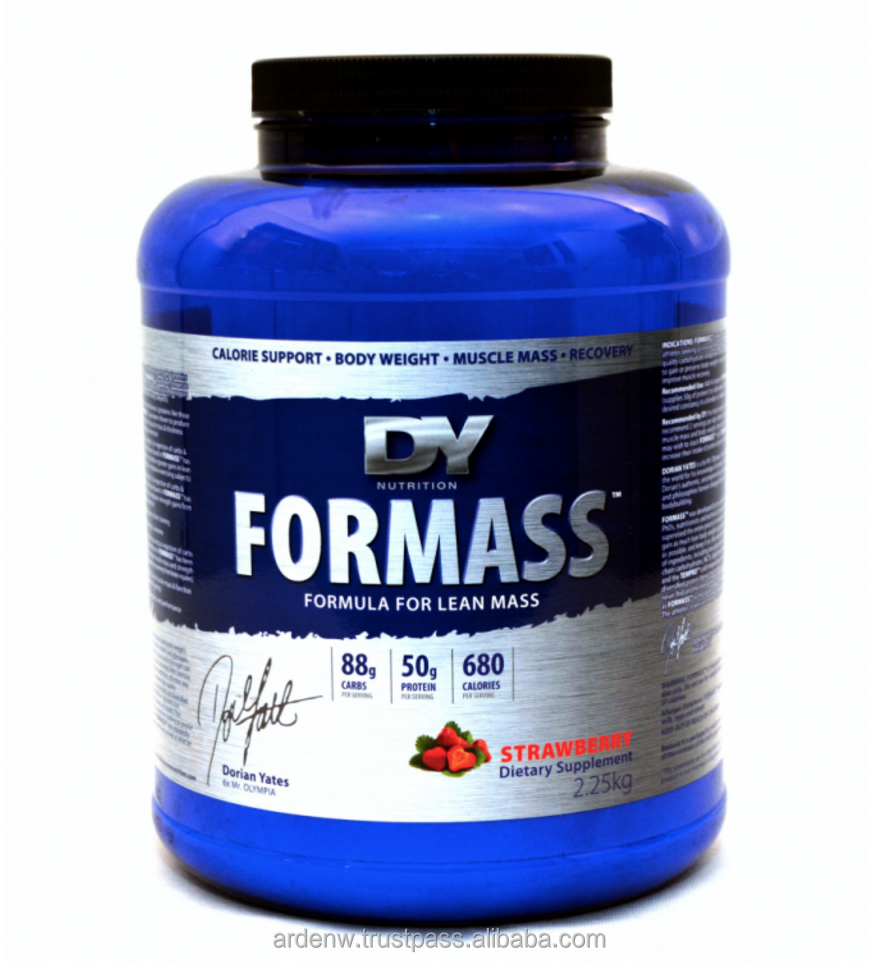 FORMASS designed for athletes seeking to increase their daily intake of high-quality carbohydrate and protein calories