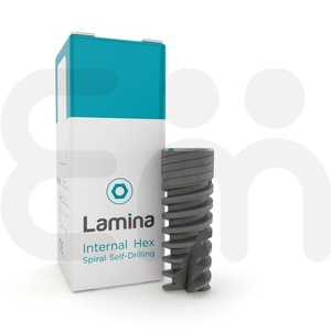LAMINA Dental Implant w/ Spiral Conical Body, Primary Stability, Internal Hex