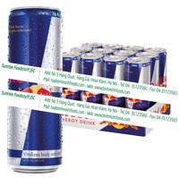 Bull blue slim can energy drink